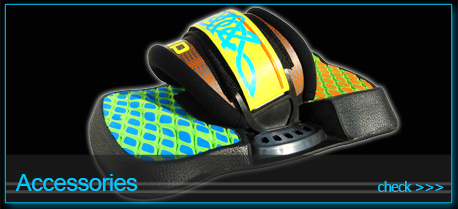 kiteboarding accessories - pads and straps fins handle