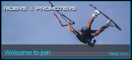 Aboards kiteboarding riders and promoters