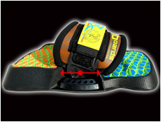 ajustable kiteboarding footstraps